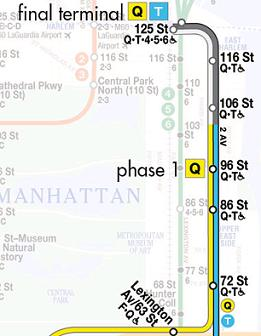 2nd Avenue subway map