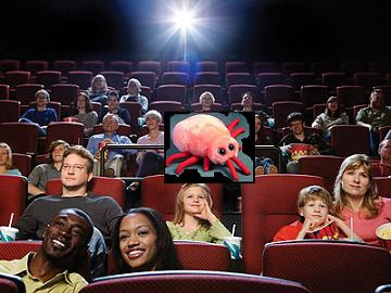 Bed bugs can be found in a number of unexpected places, including the theater. Photo from Amysrobot.com.