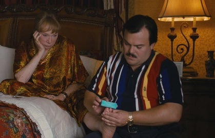 Jack Black and Shirley MacLaine in Bernie