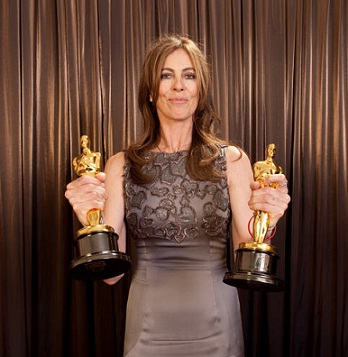 Kathryn Bigelow after winning two Oscars
