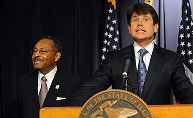 Roland Burris and Rod Blagojevich