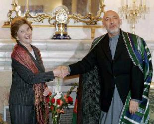 Laura Bush and Karzai