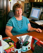 Charlaine Harris in her office
