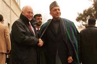 Cheney and Karzai
