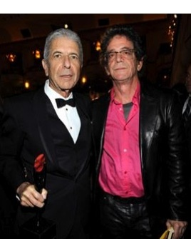 Leonard Cohen and Lou Reed at the Rock and Roll Hall of Fame