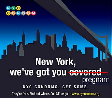 NYC condom campaign will get you knocked up