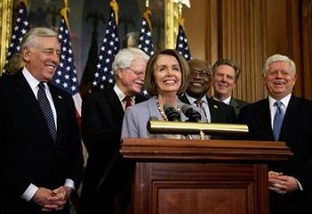 Happy Democrat representatives
