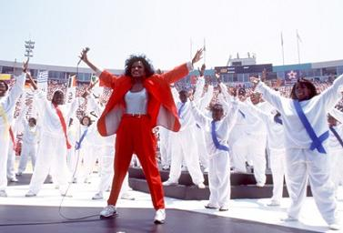 Diana Ross at the World Cup opening ceremony, 1994