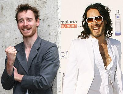 Michael Fassbender and Russell Brand