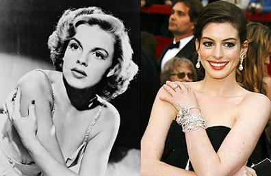 Judy Garland and Anne Hathaway