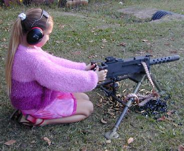 girl with a machine gun