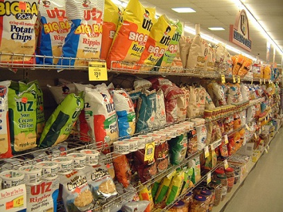 Junk food in grocery stores