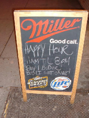 miller happy hour