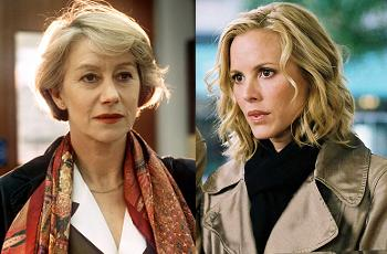 Helen Mirren and Maria Bello, once and future Jane Tennison