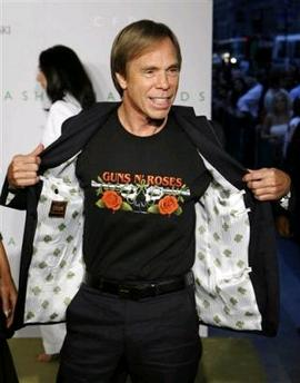 Tommy Hilfiger wears his favorite band's tshirt