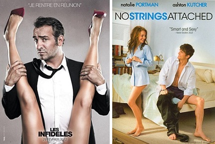 Jean Dujardin in Les Infideles and No Strings Attached