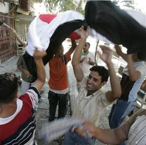 Iraqis celebrate football win