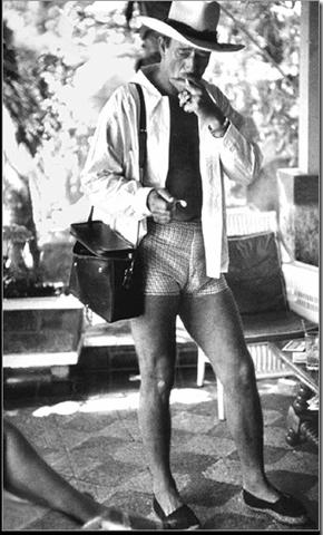 John Wayne in breezy ensemble
