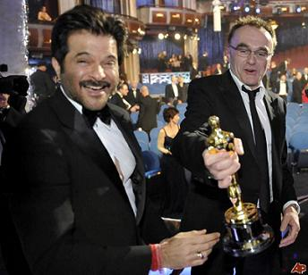 Anil Kapoor and Danny Boyle at the Oscars