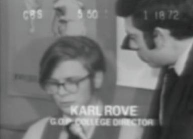 Karl Rove in college