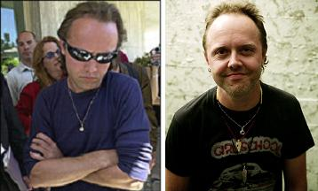 Lars Ulrich, sad and happy