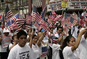 Latino marchers