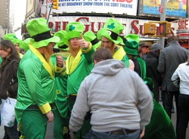 Leprechauns in Times Square