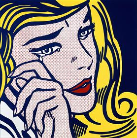 Crying woman, Lichtenstein