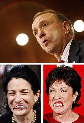 Arlen Specter trumps Sens. Snowe and Collins