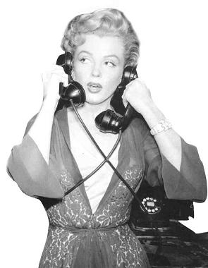 Marilyn on two phones