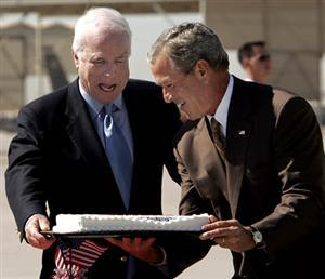 McCain's 2006 birthday cake
