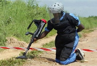 land mine detection