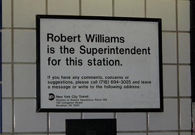 Robbie Williams, MTA Superintendent