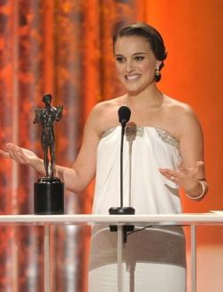 Natalie Portman at the SAG awards