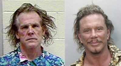 Nick Nolte and Mickey Rourke mugshots