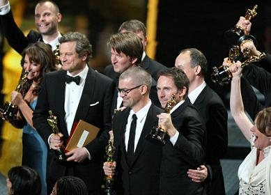 Oscar winners on stage