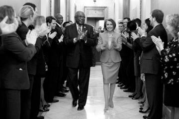 Pelosi, Clyburn, and happy staffers
