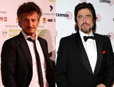 Sean Penn and Benicio Del Toro
