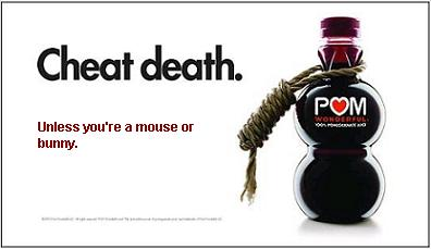 Pom Wonderful kills animals?