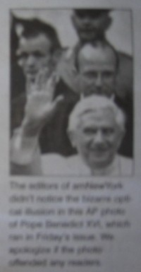 Ratzinger with devil horns