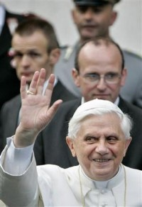 Ratzinger with devil horns color