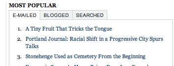NYT most popular stories