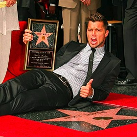 Ricky Martin's Hall of Fame star