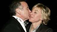 Ellen degeneres Robin Williams kissing
