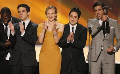 Eli Roth and the cast of Inglourious Basterds
