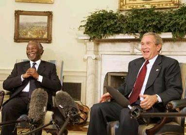 Bush and Mbeki