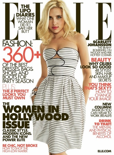 Scarlett on the cover of Elle