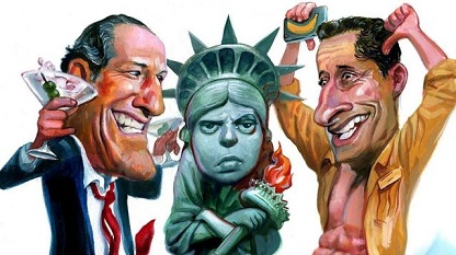 Eliot Spitzer and Anthony Weiner, unlikely political candidates