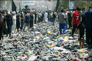 Baghdad street after trampling