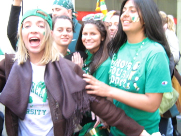 Girls at St Patrick's Day parade